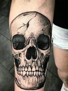 一组创意邪恶的骷髅纹身