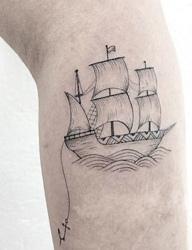 精致清新派的小图案纹身刺青