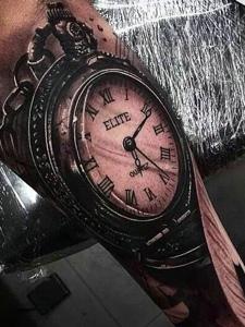 愿时间停留在那一刻的时钟钟表纹身