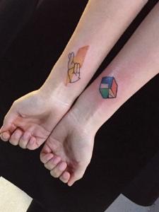 小清新萌萌可爱的手臂纹身图片