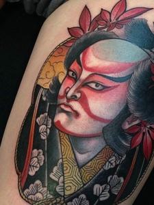 一组日式风格的重口味图腾纹身