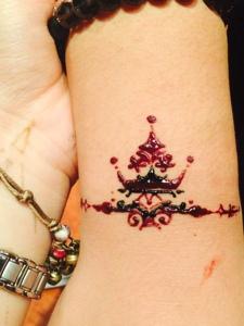 适合女生的漂亮印度海娜纹身
