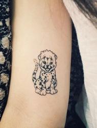 身上充满个性的温馨可爱小图刺青