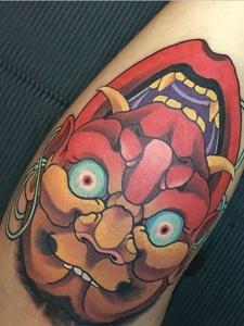 非常有创意的日式彩色纹身图案
