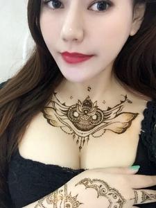 羡慕嫉妒恨的美丽海娜纹身刺青