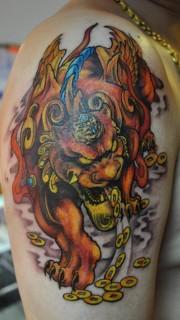 招财神兽貔貅的纹身图片