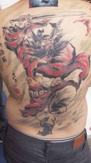 大气个性的满背钟馗纹身