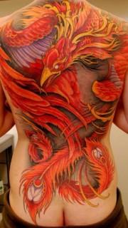 满背好看的凤凰纹身