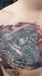 威猛强悍武士纹身图案