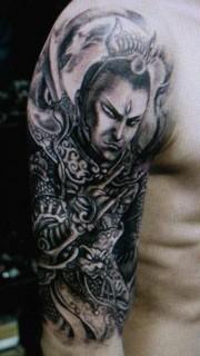 超有個性的手臂二郎神紋身圖片