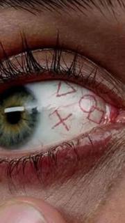 眼球十字正方形三角形纹身