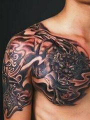 招财神兽貔貅半甲纹身