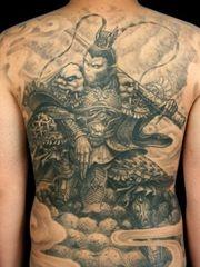 霸气的齐天大圣孙悟空战如来满背纹身