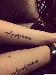 情侶手臂英文字母紋身