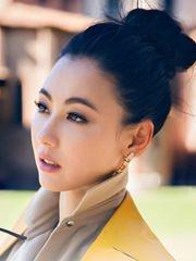 辣妈张柏芝 示范单身女神的发型