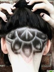 女生后脑剃一半雕刻 帅气Undercut剃一半发型