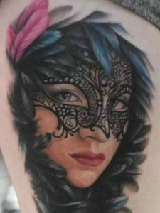 一组风趣偏偏的人像纹身刺青