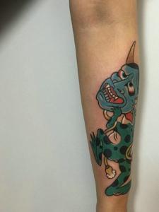 日式新传统小般若纹身图案