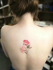 一组适合小女生的小清新花朵纹身刺青