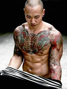 两款超等型男全身纹身图案很霸气
