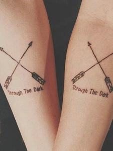 两款适合90后小情侣手臂纹身图案
