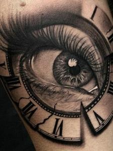 3d眼球手臂紋身圖案明亮動人