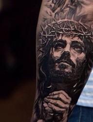 手臂 腿部人物肖像紋身