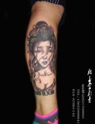男士女士人物紋身   腿部紋身   圖騰紋身  后背紋身  腰部紋身