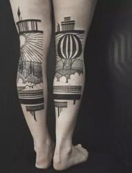 神秘的黑色纹身