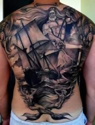 欧美经典满背纹身