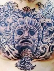 男士霸气胸口纹身