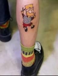 卡通动漫纹身之辛普森一家