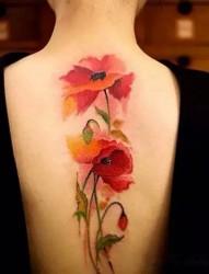 有著致命誘惑的罌粟花紋身
