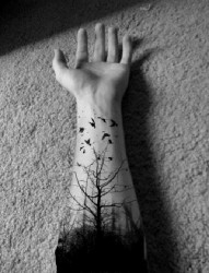 暗黑森林系纹身
