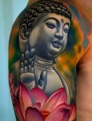 宗教素材之佛像纹身
