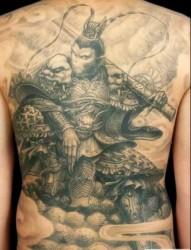 一组西游记人物纹身图案