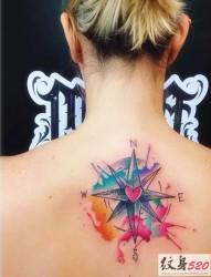 鲜艳的泼墨水彩纹身欣赏