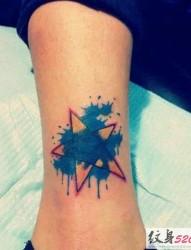 迷人的泼墨纹身图案大全