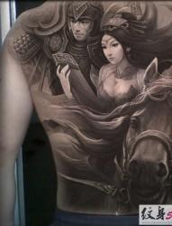 经典英雄人物之吕布纹身