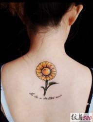 小清新系列之向日葵纹身