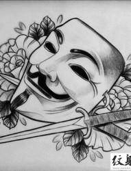 v字仇杀队纹身手稿素材