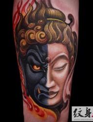 不动明王传统风格纹身刺青