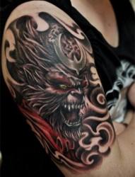 斗戰圣佛孫悟空時尚霸氣的手臂紋身