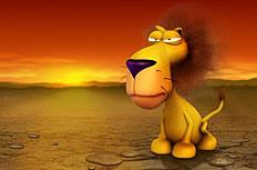 卡通狮子图片素材