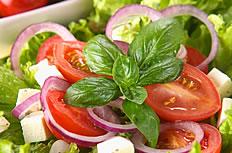 西红柿蔬菜沙拉高清图片