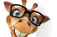 可爱长颈鹿卡通图片