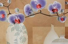兰花装饰画图片