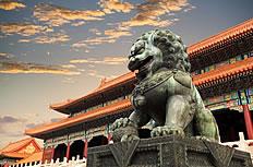 北京故宫石狮子图片