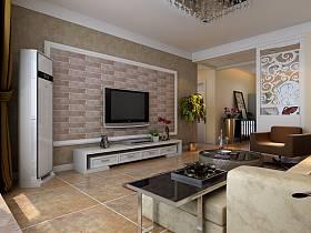 现代客厅沙发电视柜茶几装修效果展示