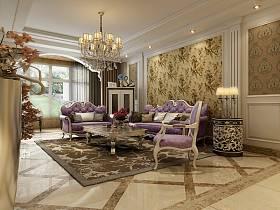 欧式客厅沙发茶几案例展示